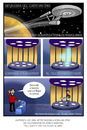 Cartoon: Star Trek delivery (small) by Juan Carlos Partidas tagged star trek series tv enterprise scotty space ship science fiction pizza delivery food transporter transportador viaje las estrellas nave espacial espacio ciencia ficcion serie television