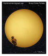 Cartoon: Venus transit (small) by Juan Carlos Partidas tagged venus,transit,transito,planetas,sol,sun,space,espacio,astronomia,astronomy,event