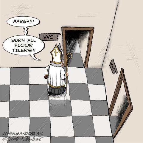 Cartoon: Chess problem (medium) by Mandor tagged chess,bishop,wc