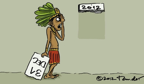 Cartoon: The End of the World (medium) by Mandor tagged end,of,the,world,2012,mayans,calendar