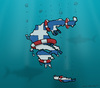 Cartoon: Greece (small) by Mandor tagged greece,underwater
