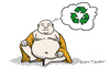 Cartoon: Inventing reincarnation (small) by Mandor tagged buddha,inventing,reincarnation,recycle,recyclation