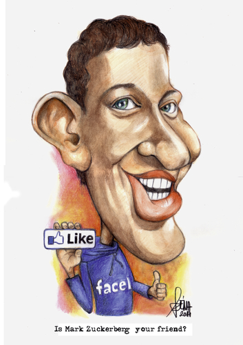 Cartoon: Is Mark Zuckerberg your friend? (medium) by Szena tagged internet,