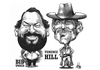 Cartoon: Bud Spencer  Terence Hill (small) by Szena tagged bud,spencer,terence,hill,actor,italian