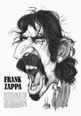 Cartoon: Frank Zappa (small) by Szena tagged rock