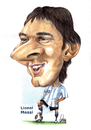 Cartoon: Lionel Messi (small) by Szena tagged caricatur messi argentine barcelona football star