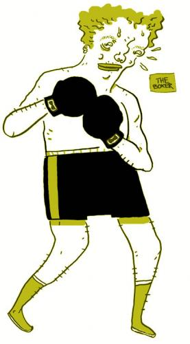Cartoon: Boxer (medium) by monopolymouse tagged boxing,sports
