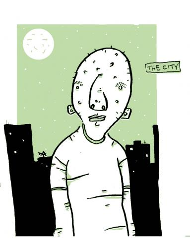 Cartoon: The City (medium) by monopolymouse tagged city,green,portrait
