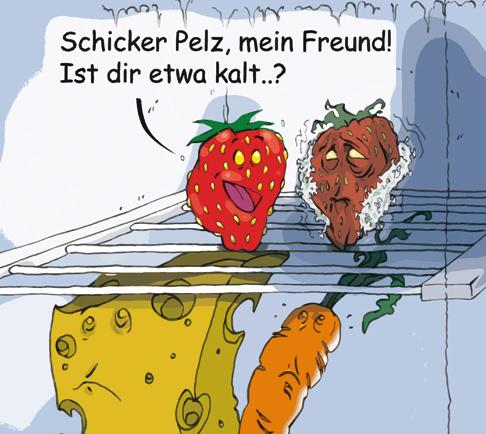 Cartoon: Neulich im Kühlschrank (medium) by Lemmy Danger tagged kühlschrank,fridge,refrigerator,strawberry,erdbeere,cold