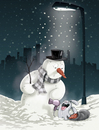 Cartoon: Snowman Killer (small) by Bartzillus tagged snowman,winter,bunny,rabbit,christmas,snow