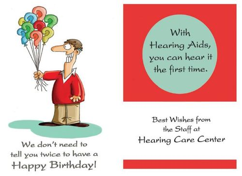 Birthday Card 2015 By Hearing Care Humor Education Tech Cartoon