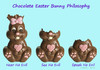 Cartoon: Chocolate EasterBunny Philosophy (small) by Hearing Care Humor tagged deaf,ear,hearing,chocolate,easter,bunny,hard,of