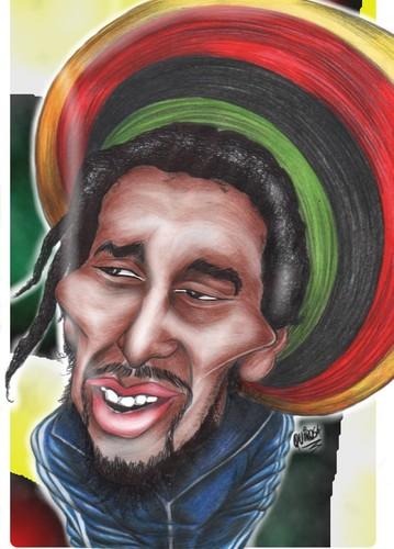 Bob Marley By Rubenquiroga Famous People Cartoon Toonpool