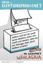 Cartoon: For election problems (small) by Kamil tagged wahlen,election,wahlzettel,stimme,politik