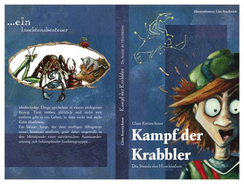 Cartoon: Kampf der Krabbler (medium) by Lissy tagged illustration,cover,jugendbuch,junge,character,insekten