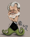 Cartoon: George Lucas (small) by jaime ortega tagged george lucas director stars wars