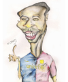 Cartoon: thierry henry (small) by jaime ortega tagged thierry henry francia futbol barsa