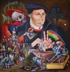 Cartoon: Martin Luther (small) by petwall tagged martin,luther,reformation,religion,geschichte
