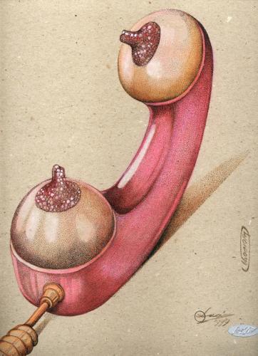 Cartoon: sex-phone (medium) by LuciD tagged lucido