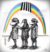 Cartoon: rainbow in black and white... (small) by LuciD tagged fasion,olympic,times,white,art,zodiac,animals,cartoon,cool,earth,football,humor,life,live,pictures,religion,photo,sport,sexy,xxx