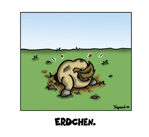Cartoon: Erdchen (medium) by Marcus Trepesch tagged horses,cartoon,animals,german,nonsense