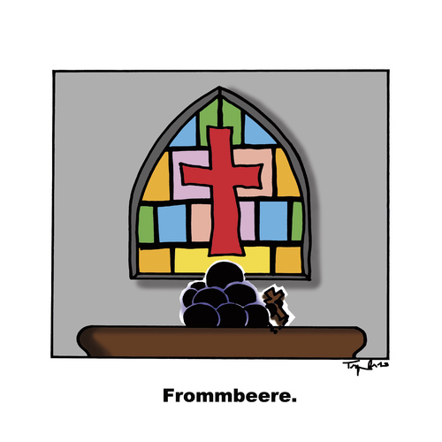 Cartoon: Frommbeere (medium) by Marcus Trepesch tagged church,religion,biology