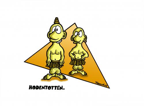 Cartoon: Hodentotten (medium) by Marcus Trepesch tagged cartoon