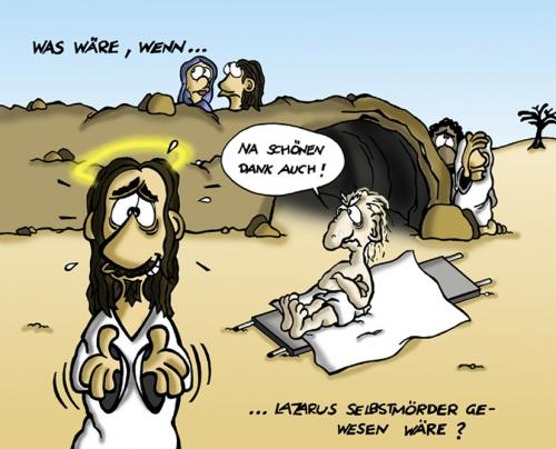 Cartoon: Lazarus (medium) by Marcus Trepesch tagged religous