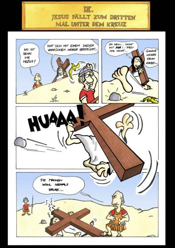 Cartoon: Passion Part 9 (medium) by Marcus Trepesch tagged jesus,religion,funnie,torture