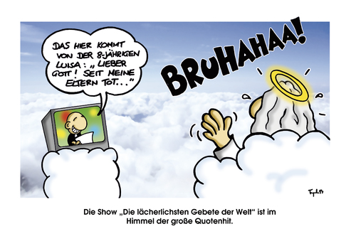 Cartoon: Prayers... (medium) by Marcus Trepesch tagged god,religion,heaven,life,cartoon