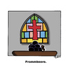 Cartoon: Frommbeere (small) by Marcus Trepesch tagged church,religion,biology