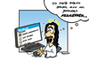 Cartoon: Jesus loves facebook (small) by Marcus Trepesch tagged jesus,religion,cartoon,facebook,social,network,internet,web