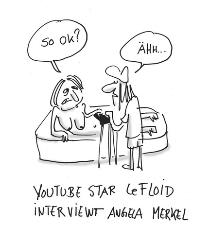 Cartoon: Ist das nicht youporn? (medium) by Ludwig tagged lefloid,youtube,merkel,chancellor,kanzlerin