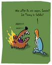 Cartoon: Lassie brennt (small) by Ludwig tagged hund,dog,lassie,feuer,retten