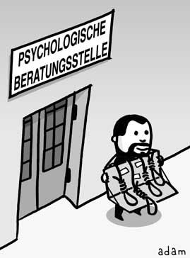 Cartoon: standort (medium) by adam tagged psychologie