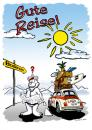 Cartoon: Gute Reise Eisbaer (small) by Michael Böhm tagged bear,car,sports,farewell,road,map,humour