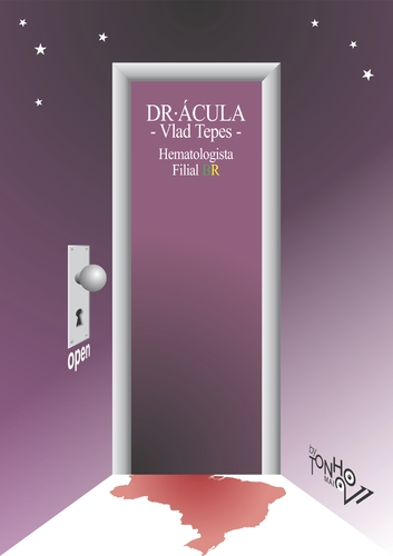 Cartoon: Dr Acula (medium) by Tonho tagged doctor,door,dracula