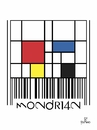 Cartoon: barcode Mondrian (small) by Tonho tagged art,barcode,mondrian