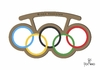Cartoon: Brass knuckles (small) by Tonho tagged brass,knuckles,olympic,punch