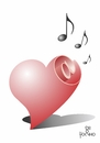 Cartoon: Heart sound (small) by Tonho tagged heart,sound,corasom