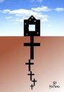 Cartoon: Roots (small) by Tonho tagged crosses,roots,death