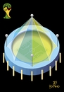 Cartoon: Stadiums or circuses (small) by Tonho tagged stadiums,circuses,football,brazil,world,cup