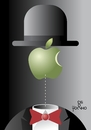 Cartoon: Variation... (small) by Tonho tagged magritte,apple
