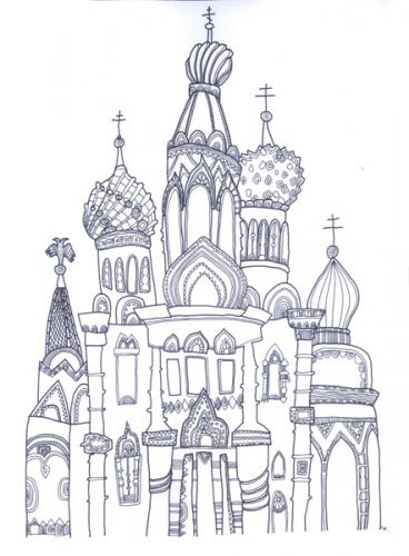 Cartoon: Russia. St. Petersburg (medium) by flyingfly tagged church,of,our,savior,on,the,spilled,blood,russia,lina,khesina,drawing,cathedral
