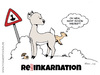 Cartoon: Reh-inkarnation (small) by Tommestoons tagged reh,reinkarnation,inkarnation,wiedergeburt,auferstehung