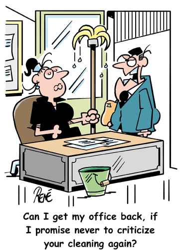Office Cleaning Cartoon