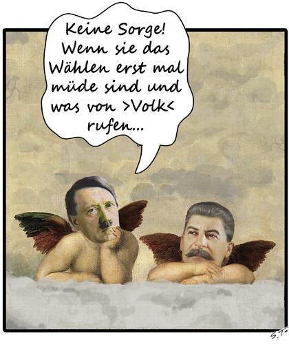 Engelsgeduld By Simpleton Politics Cartoon Toonpool