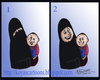 Cartoon: hijab (small) by koyaskodinhi tagged woman