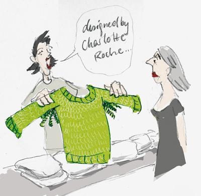 Cartoon: designed by Charlotte Roche (medium) by Anja Vogel tagged fashion,women,frauen,mode