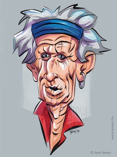 Cartoon: Keith Richards (medium) by hopsy tagged keithrichards,rollingstones,guitarist,songwriter,musician,singer,ipad,adonit,procreate,caricature,digital,petertemesi,temesi